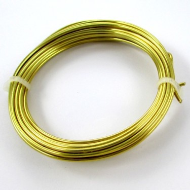Brass wire for Dangerous Curves Wire & Chain Necklace - tutorial by Rena Klingenberg