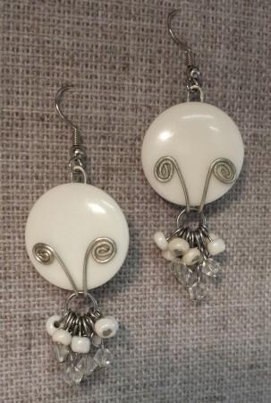 AllaP: Button Earrings