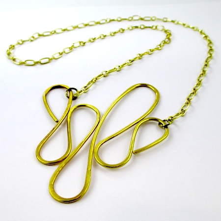 Dangerous Curves Wire & Chain Necklace (Tutorial)