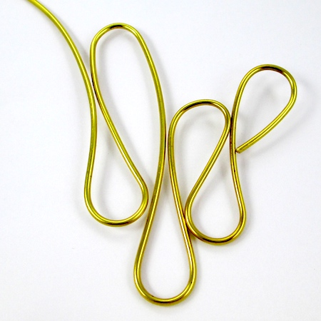 Teardrop loops for Dangerous Curves Wire & Chain Necklace - tutorial by Rena Klingenberg