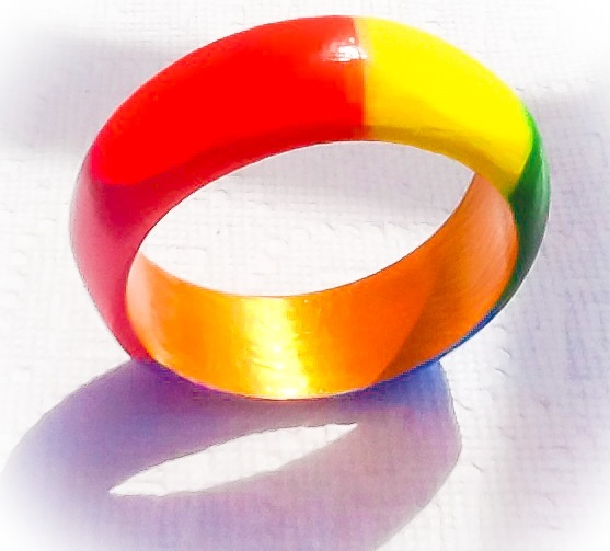 Rainbow Wood Bangle
