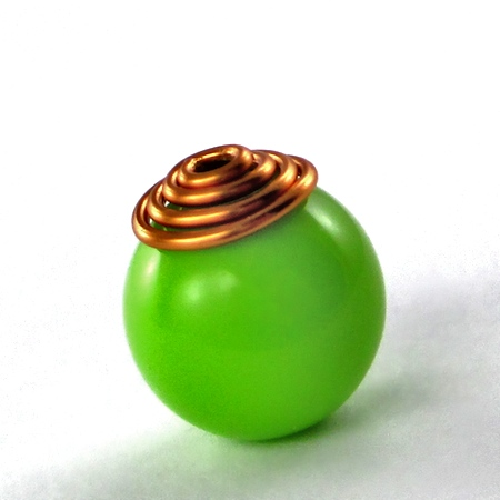 Spiral Wire Bead Cap (Tutorial)