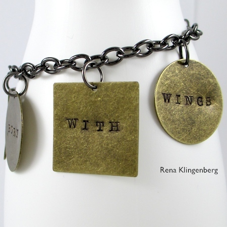 Stamped Quote Charm Bracelet - tutorial by Rena Klingenberg