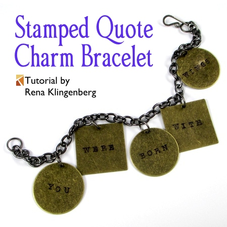 Stamped Quote Charm Bracelet (Tutorial)  @ Jewelry Making Journal
