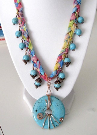 PJohal: Mixed Media Necklace Tutorial 1