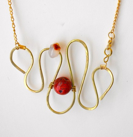 Serpentine Roads with Carnelian