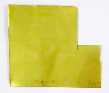 Brass sheet for Easy Riveted Pendant - tutorial by Rena Klingenberg