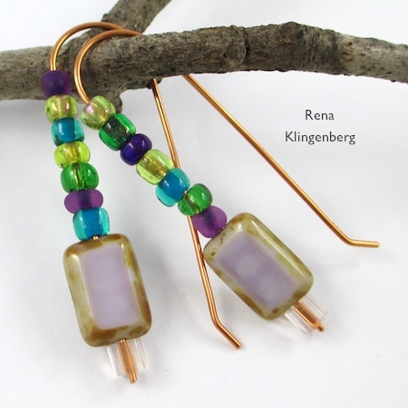 Changeable Bead Earrings - tutorial by Rena Klingenberg