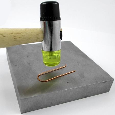 Hammer hardening for Changeable Bead Earrings - tutorial by Rena Klingenberg