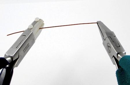 Straightening wire for Changeable Bead Earrings - tutorial by Rena Klingenberg