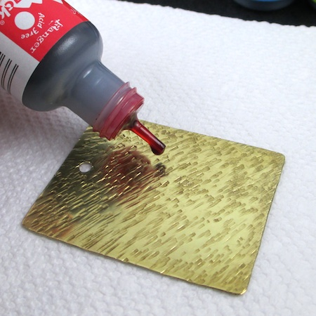 Coloring Metal with Alcohol Ink - tutorial by Rena Klingenberg