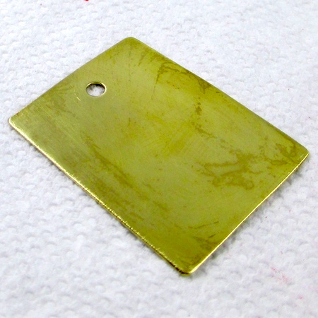 Brass pendant blank for Coloring Metal with Alcohol Ink - tutorial by Rena Klingenberg