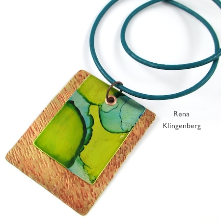 Easy Riveted Pendant - Tutorial by Rena Klingenberg
