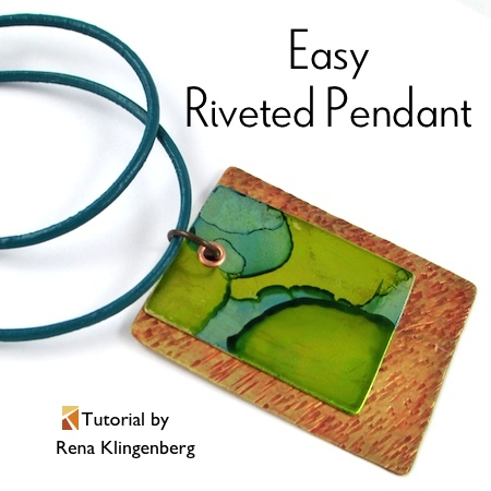 Easy Riveted Pendant - tutorial by Rena Klingenberg