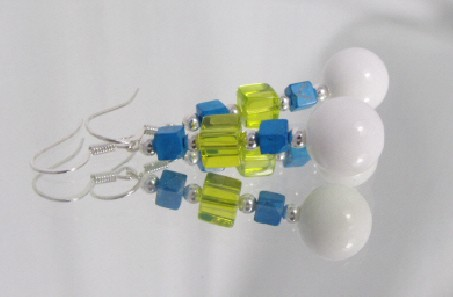 Jade and Turquoise Earrings