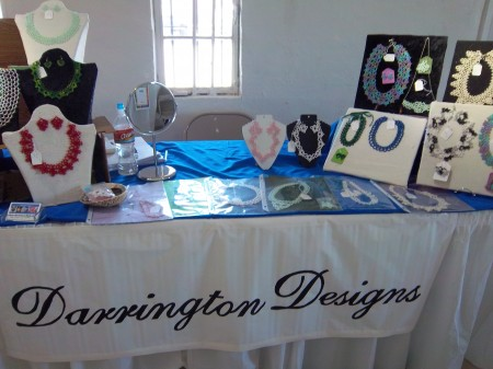 My table at the Fiber Arts Festival