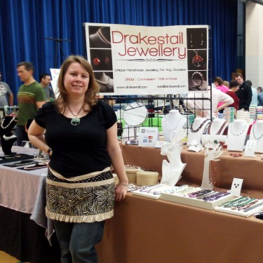 Me, in front of my booth.