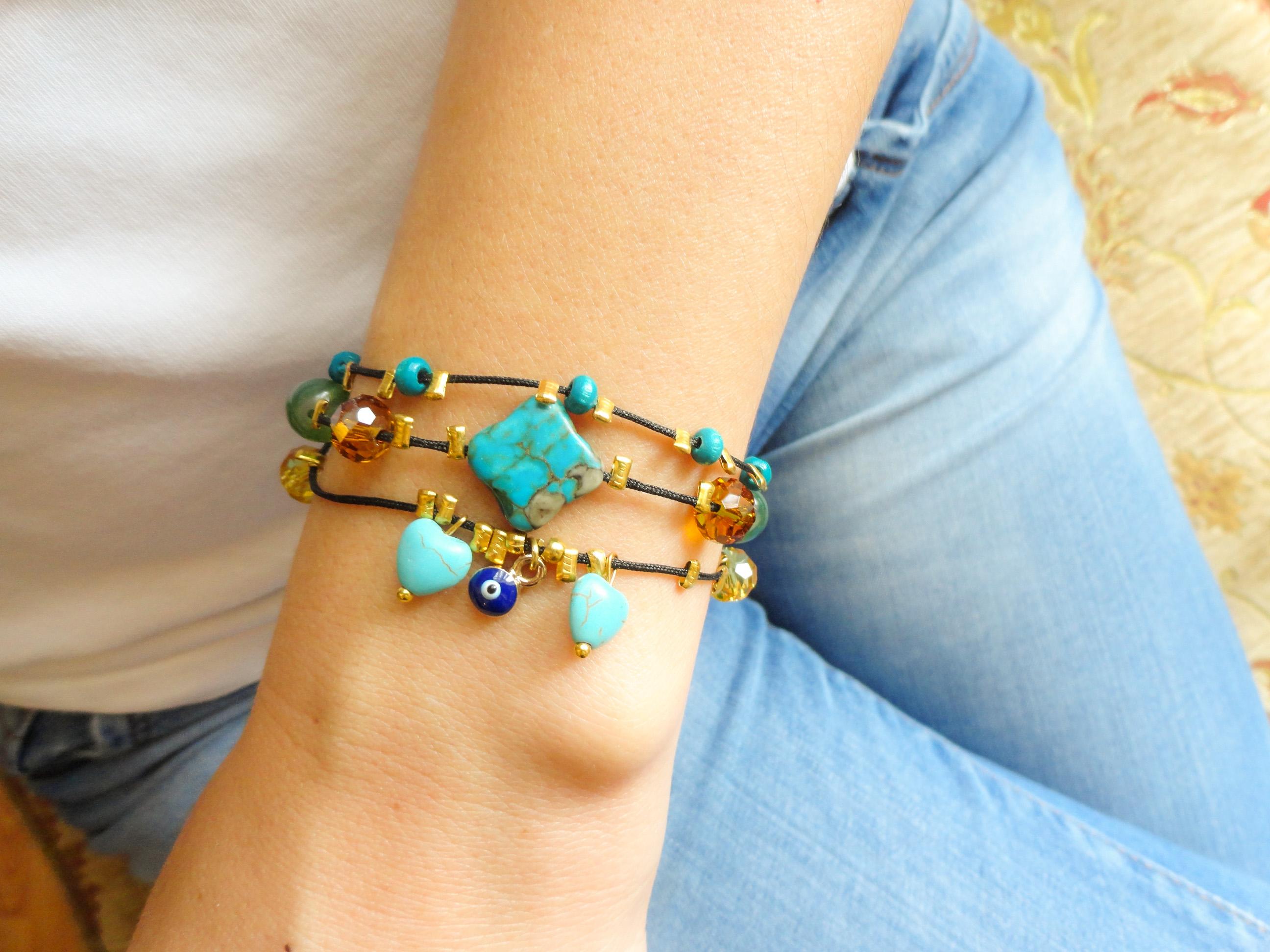 Turquoise Triple Strand Bracelet