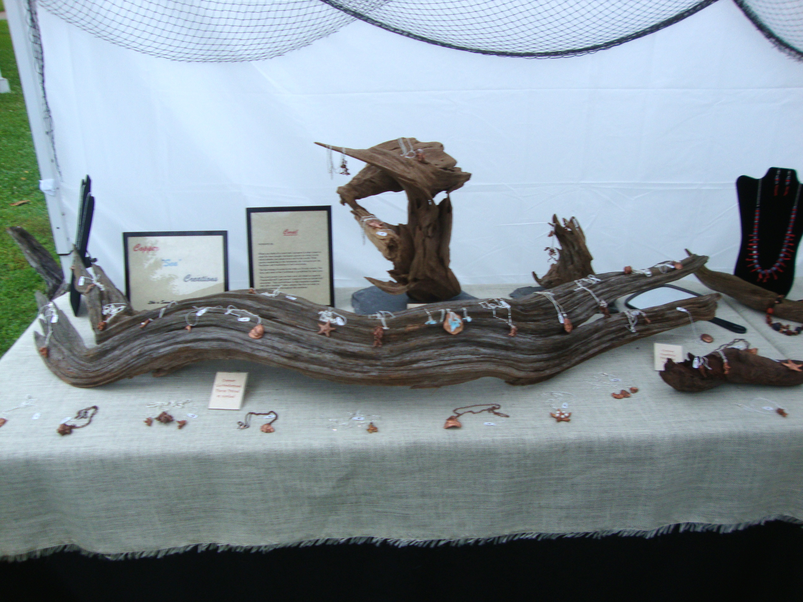 Copper Creations on Driftwood Displays