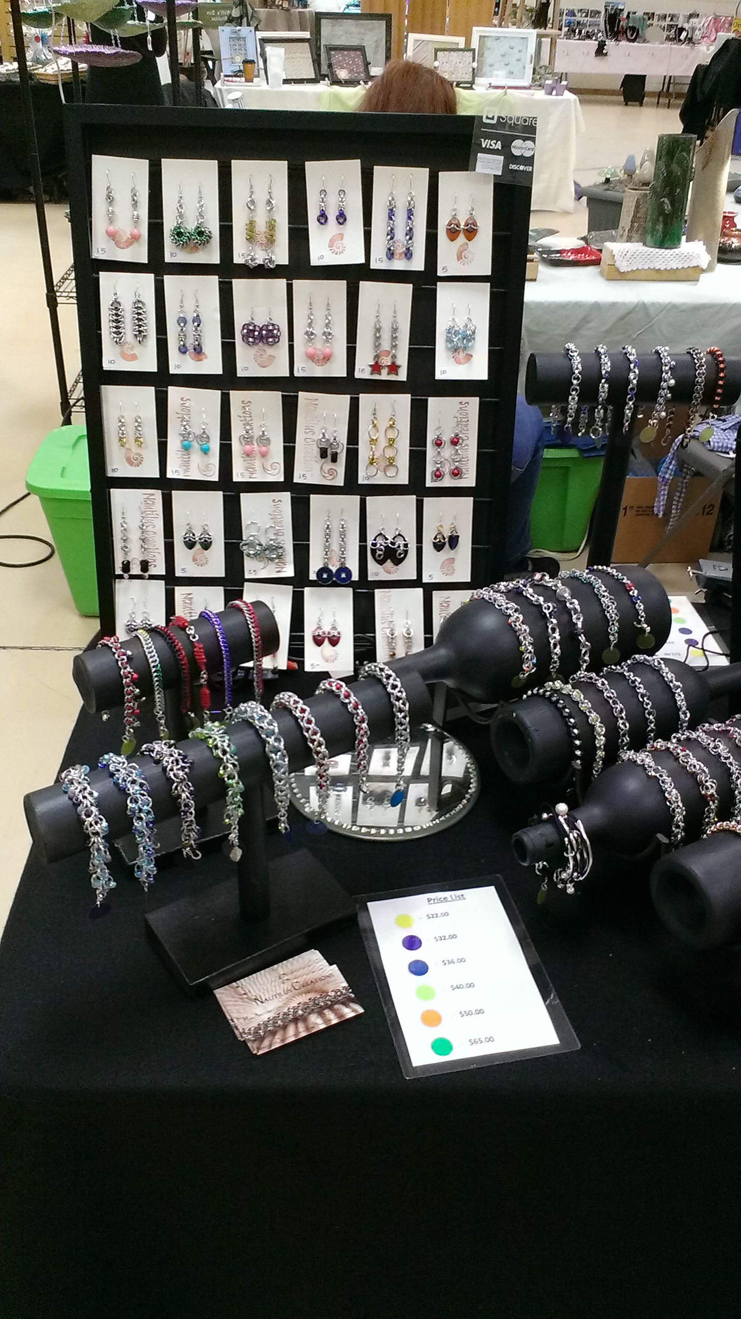 Chain Maille Jewelry Display