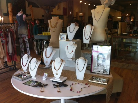 TableTop Display for Retail Trunk Show by Tomboy Pretty
