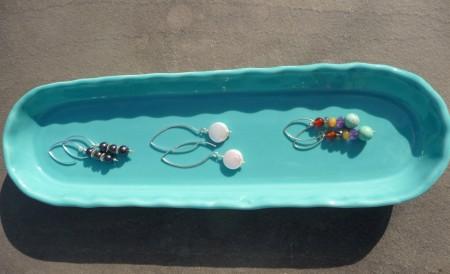 Cracker plate used for earrings.
