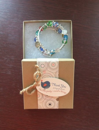 Packaging with bracelet