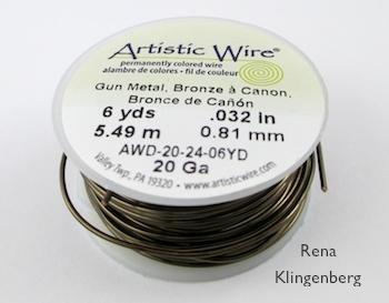 Wire for Teardrop Window Earrings - tutorial by Rena Klingenberg