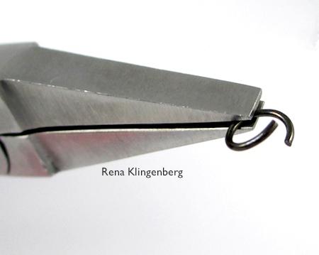 Twist open a jump ring for Teardrop Window Earrings - tutorial by Rena Klingenberg