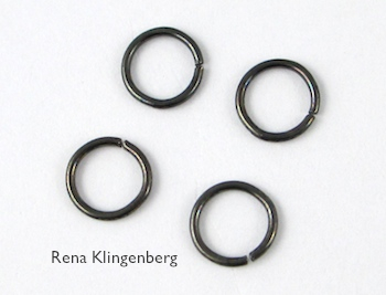 Jump rings for Teardrop Window Earrings - tutorial by Rena Klingenberg