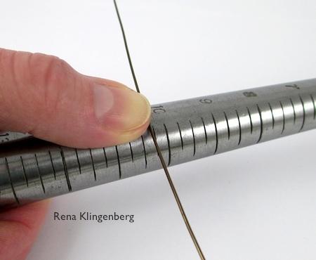 Mandrel for forming curved teardrop hoop - Teardrop Window Earrings - tutorial by Rena Klingenberg
