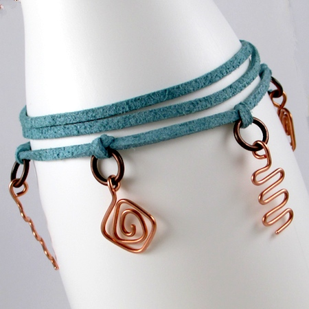 Wire Charm Wrap Anklet (Tutorial)