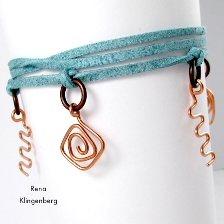Wire Charm Wrap Anklet - tutorial by Rena Klingenberg