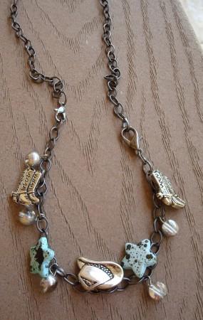 Bracelet turned into a necklace 3. Can also be a bracelet.
