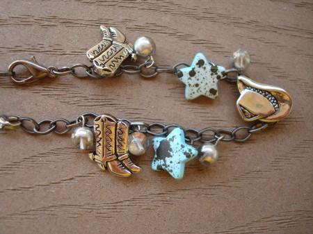 Unhook Lobster clasps to wear as a bracelet.