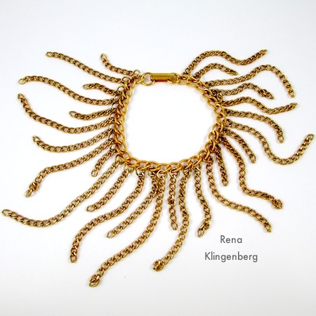 Finished Bracelet - Roaring 1920s Flapper Fringe Jewelry - tutorial by Rena Klingenberg