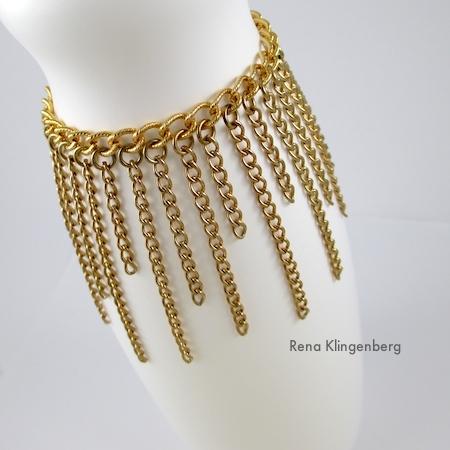 Roaring 1920s Flapper Fringe Jewelry - tutorial by Rena Klingenberg