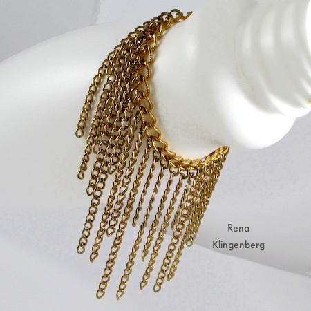 Roaring 1920s Flapper Fringe Jewelry - tutorial by Rena Klingenberg