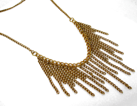 Long necklace - Roaring 1920s Flapper Fringe Jewelry - tutorial by Rena Klingenberg