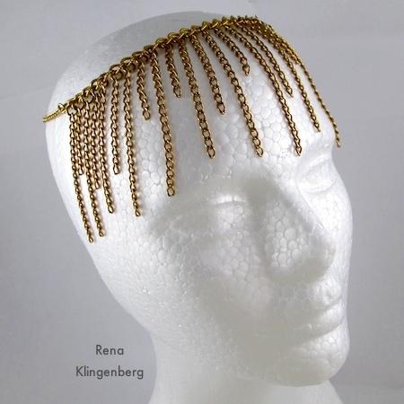 Flapper Headband - Roaring 1920s Flapper Fringe Jewelry - tutorial by Rena Klingenberg