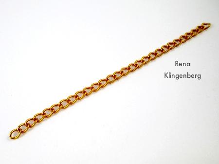 Charm Bracelet Chain for Roaring 1920s Flapper Fringe Jewelry - tutorial by Rena Klingenberg