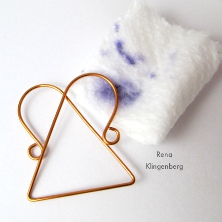 Clean ink off the wire - Wire Angel Pendant - tutorial by Rena Klingenberg