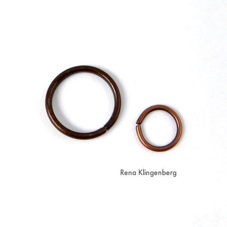 Jump rings for Wire Angel Pendant - tutorial by Rena Klingenberg