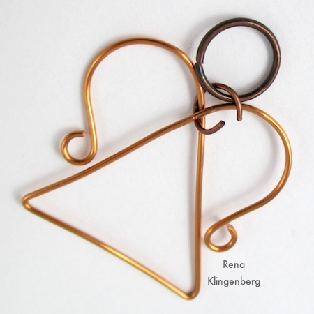 Attaching angel's head for Wire Angel Pendant - tutorial by Rena Klingenberg