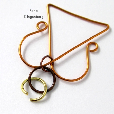 Attaching the halo to Wire Angel Pendant - tutorial by Rena Klingenberg