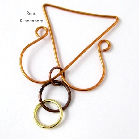 Wire Angel Pendant - tutorial by Rena Klingenberg