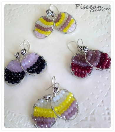 Wire wrapped glamorous crystals......