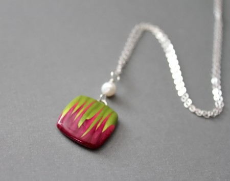 Polymer clay pendant necklace jewelry making journal polymer clay pendant necklace mozeypictures Image collections