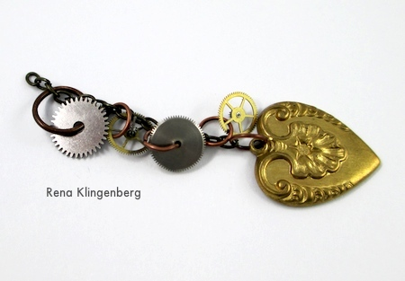 Chain strand for Boho Steampunk Earrings - tutorial by Rena Klingenberg
