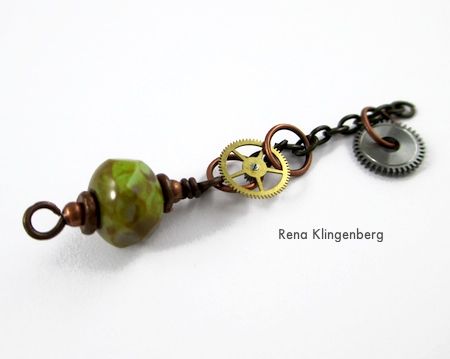 Short chain for Boho Steampunk Earrings - tutorial by Rena Klingenberg